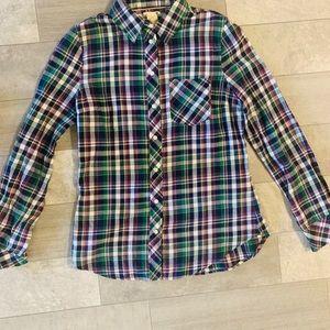 Levi's plaid blouse